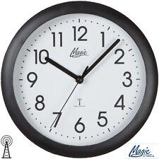 Magic 4490/7 Horloge murale radio-pilotée de bureau d'atelier cuisine Noir