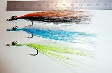 Clouser Minnow size 1/0 ONLY (3 off as shown) –Quality Bucktail 90-110mm