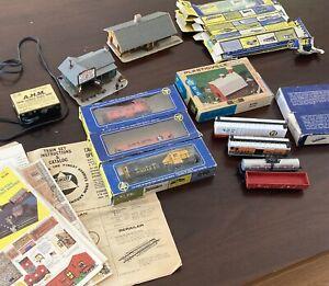 huge lot of vintage model train set items AHM Tracks Models Power Source Manuals