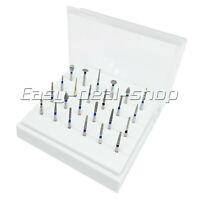 24Pcs Dental Diamond Burs For Porcelain Shouldered Abutment Polishing  FG1.6mm