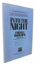 Cornell Woolrich & Lawrence Block - Into the Night - SIGNED UNCORRECTED PROOF