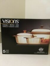 Visions 5 piece Cookware Set -Brand New