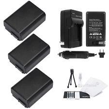3x NP-FW50 Battery + Charger + BONUS f/Sony Alpha SLT-A33 A37 A55 A5000 DSC-RX10