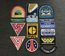 More details for alien uscss nostromo, covenant and aliens iron on patch collection 13 piece pack
