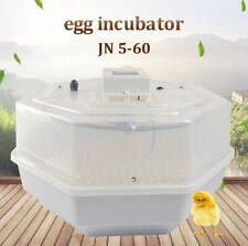 JANOEL 60 Eggs Incubator Poultry Hatcher Chicken Duck Quail Brooder LED Digital