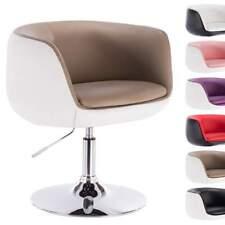 1 x Barsessel Clubsessel Lounge Sessel mit Armlehne Chrom Khaki+Weiss BH42kkw-1