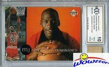 1995 UD Decade of Dominance #J2 Michael Jordan+GU BULLS FLOOR BECKETT 10 MT GGUM