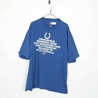 NFL USA Indianapolis T Shirt Tee Big Logo Blue | 2XL