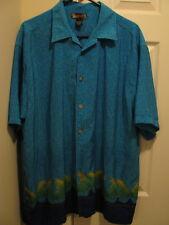 Cool Blue Hawaiian Shirt from Maluku, Size Large
