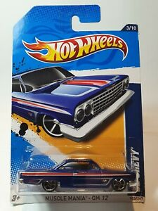 HOT WHEELS 2012  1962 CHEVY MUSCLE MANIA