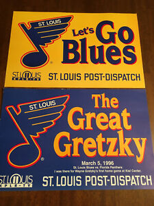 St Louis Blues / Wayne Gretzky - 1996 Newspaper Promo - St Louis Post Dispatch