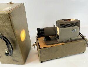 Vintage ARGUS 200 Electric 110V Retro Photo Slide Projector Viewer WORKS w/ Case