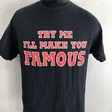 VTG WWF The Undertaker T Shirt Try Me Make Famous Wrestling Tee Deadman Medium