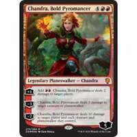 *FOIL* CHANDRA BOLD PYROMANCER NM mtg Dominaria Red - Planeswalker Mythic