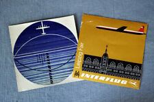 Interflug DDR Leipzig Fair   vintage Luggage Label
