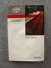2011 - 11 TOYOTA CAMRY USER OWNER MANUAL HANDBOOK GUIDE INFORMATION BOOK