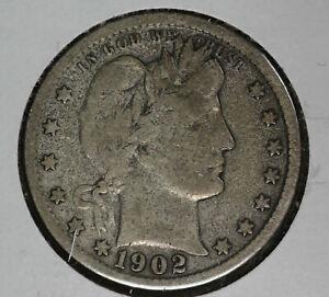 Nice Original 1902 Barber Quarter!