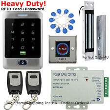 Waterproof 125KHz RFID Card+Password Door Access Control System+Magnetic Lock