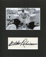 Eddie Robinson Grambling State Tigers HOF Coach Signed Autograph Photo Displ JSA
