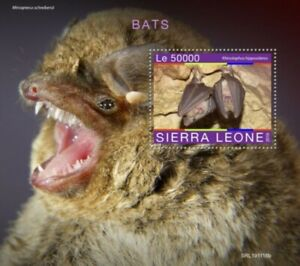 Sierra Leone - 2019 Bats on Stamps - Stamp Souvenir Sheet - SRL191118b