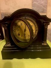 Beautiful New Haven Cast Iron Chime Mantle Clock All Original Excellent