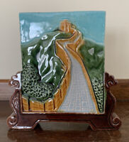 """""""Great Wall of China"""" Hand Painted Porcelain Souvenir 3D Tile"""