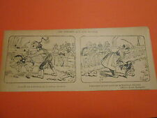 Caricature 19èm Les enfants que l'on corrige mettre la fessée