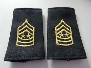 US Schulterklappen Überziehschlaufen B. Short Shoulder Marks Sergeant M o. Army!