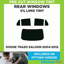 Pre Cut Window Tint - Dodge Trazo 4-door Berlina 2004-2012 - 5% Limo Rear