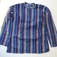 Camisa Pescador fischershirt Kurta Talla L HIPPIE Casual algodón GOA