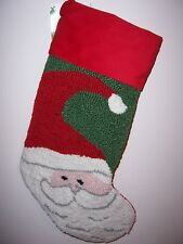 Santa Claus Handmade Christmas Stocking, NEW