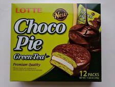 Lotte Green Tea Choco Pie One box / 12 ct US Seller