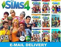 The Sims 4+25 DLC Collection|9 expansion packs|Digital Download Account|PC & MAC