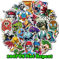 100 Scary Horror Themed Mixed Skateboard Stickers Skull Blood Gore Sticker Bomb