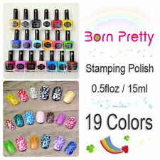19 Colors/set Colorfuls Nail Art Stamping Polish Nail Polish 15ml Born Pretty