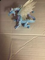 Safari Ltd ICE DRAGON Figure Figurine Blue & White & purple Retired 2010