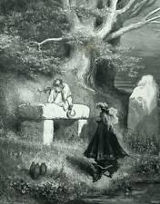 Peau d'âne Roi et Druide Conte de Perrault Gravure de Gustave Doré.