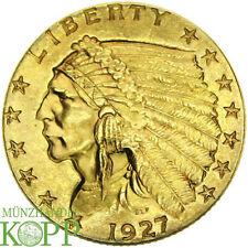 E585) usa-états-unis 2 1/2 dollars 1927 Indian Head Gold