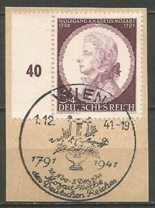 Germany (Third Reich) 1941 CTO 150th Anniv Death Mozart Vienna Cancellation
