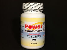 Flax seed oil, cholesterol balance, heart, joints. Made in USA - 30 soft gels.