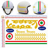 Vespa adesivi casco pvc oro italia flag sticker gold helmet cropped 11 pz.