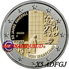 5x2Euro Commémorative Allemagne 2020 - Génuflexion de Varsovie UNC NEUVE