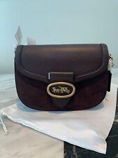 New Coach Kat Saddle Cross body bag shoulder handbag Oxblood/Brass