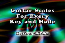 2 BOOK BUNDLE 6 STRING GUITAR SCALES AND MODE CHARTS AND CHORD TONE CHARTS