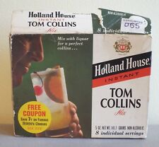 VINTAGE 1970's HOLLAND HOUSE NATIONAL DISTILLERS INSTANT TOM COLLINS MIX 8 PACK