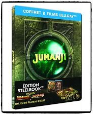 Coffret Jumanji 1995 Bienvenue dans la Jungle 2017 Bluray Steelbook Edition