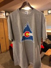 COLORADO ROCKIES VINTAGE HOCKEY T SHIRT - LARGE