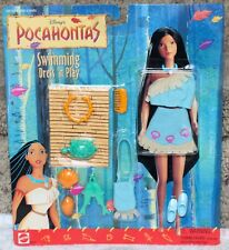 DISNEY BARBIE POCAHONTAS SWIMMING DRESS 'N PLAY DOLL FASHION w/ACCESS #68452 MOC
