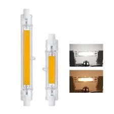 R7S COB LED Lámpara Bombillas Tubo Vidrio Luz 78mm 118mm AC220-240V 8W 16W Foco
