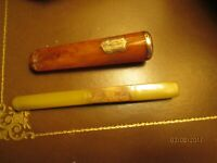 Ahumado Cigarrillos Ámbar y Oro Macizo Antiguo, y Rótula un Otros en Galalith